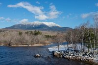 Mount Katahdin, Maine, snow, New England