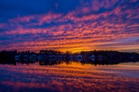 Pentucket Pond,Sunset, sky, red, New England, Massachusetts, pond