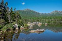 Great North Woods, Baxter St Park, Mt Katahdin, New England, Maine