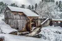 Taylor Saw Mill In Snow, Derry, NH, snow, snow scene, scenes, photograph