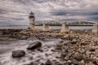 Lighthouse, light house, Marshall Point Lighthouse, Maine, shore, coast