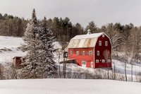 Woodstock, VT, NEW ENGLAND, SCENIC, LANDSCAPE, BARN, RED BARN, New England Photo Workshops