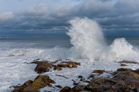 Gloucester, MA, Waves, Ocean, New England, blizzard