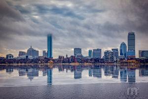 Boston Reflections In Winter