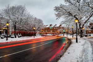 Winter Street Scene in Newburyport, MA