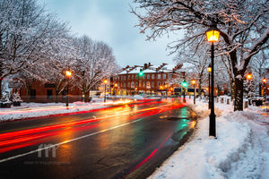 Winter Night In Newburyport, MA