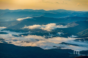 Looking Over The Smoky Mountains Of Tenessee
