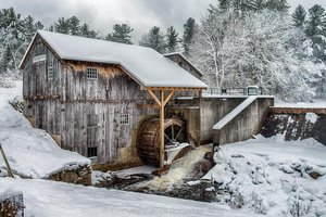 Taylor Saw Mill In Snow