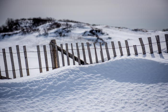 Cape Cod,Snow, Provincelands, fence, New England