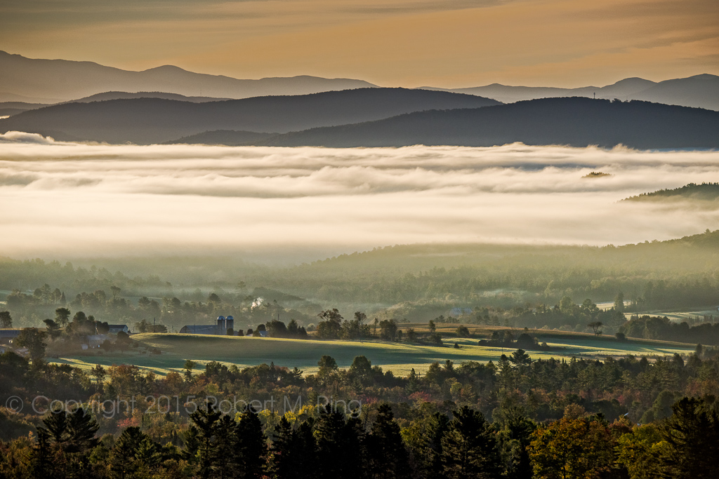 NEK, Northeast Kingdom Of Vermont, Fog, Sunrise. New England