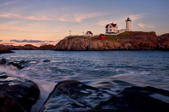 Maine, Nubble Light, Lighthouse, coast, New England,, photo