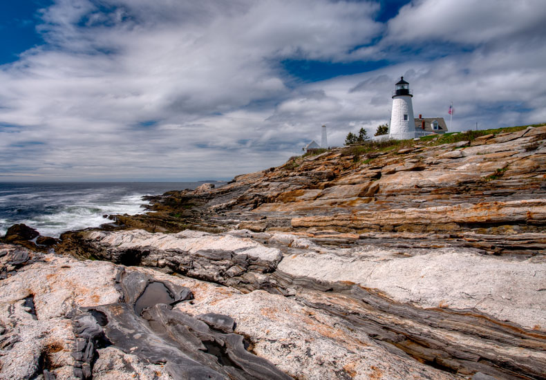 sky, clouds, new england, lighthouse, light house,, photo
