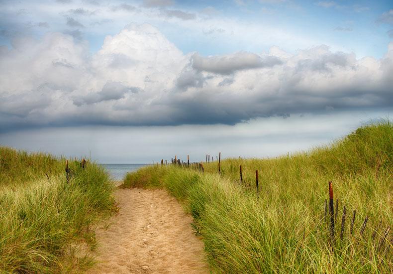sky, clouds, path, sand,, photo