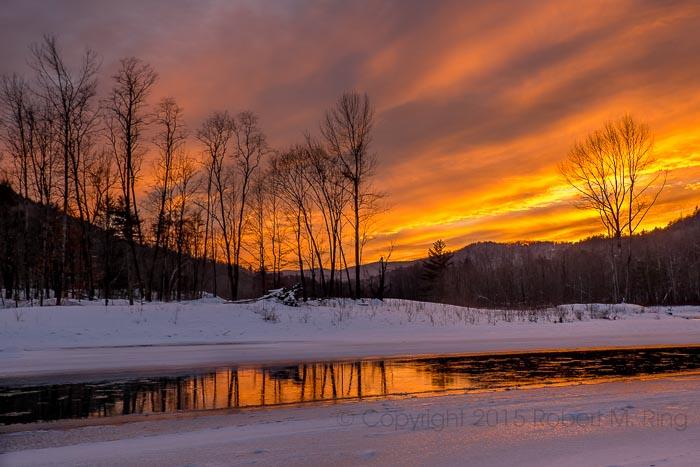Vermont, Stockbridge, VT, river, sunset, New England, photo