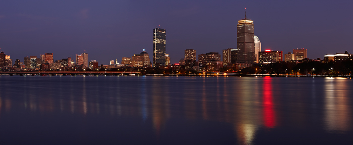 Boston, Massachusetts, Dark, Boston Skyline, Skyline, Panoramas, New England, Night, photo