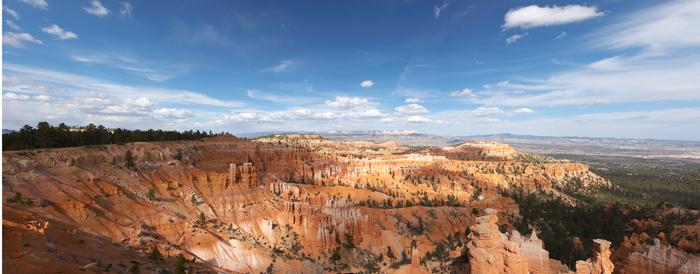 A small panorama print of a big canyon!