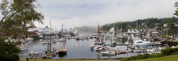 Camden, Maine, Camden Harbor, Harbor, New England, Panorama,Sail boats, photo