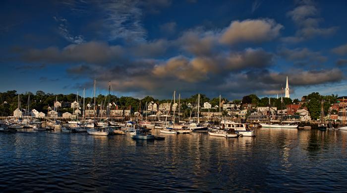 Camden, Maine, Camden Harbor, Harbor, New England, Ocean, Favorites, Boats, Clouds, photo