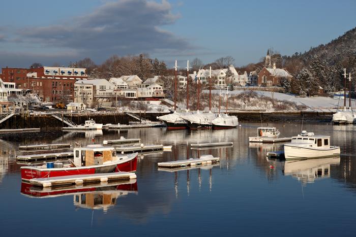 Camden, Maine, Winter, Harbor, New England, Boats, Favorites, photo