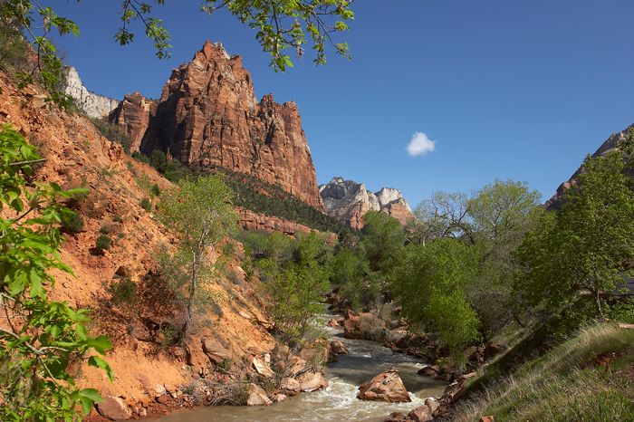 Zion, Zion National Park, National Park, Virgin River, Utah, West of New England, Court Of The Patriarchs, photo