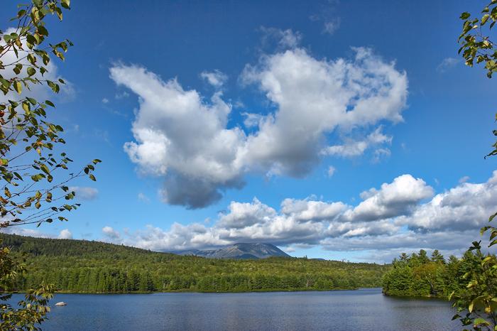 Clouds, Mt.Katahdin, Maine, Blue, Sky, Blue Sky, Golden Road, New England, Katahdin, photo