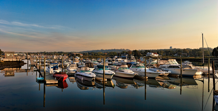 Danversport, Massachusetts, Danvers, Boats, Dawn, New England, Panorama, photo