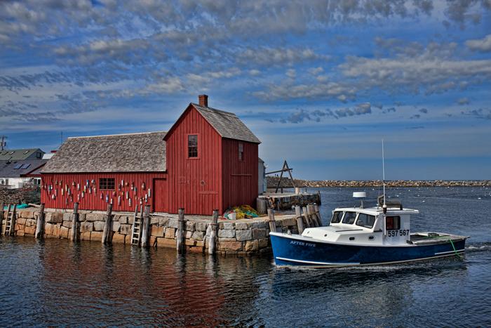 Rockport, Massachusetts, New England, Lobster Boat, Motif #1, photo