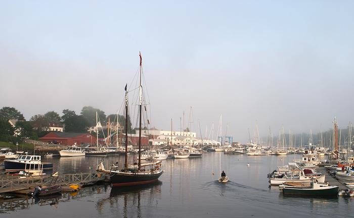 Camden, Maine, Harbor, Sail Boat, New England, sunset, photo