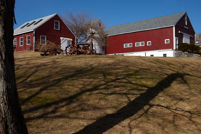 Found this farm while driving around with some friends.  The red was perfect and I liked the shadows from the trees.
