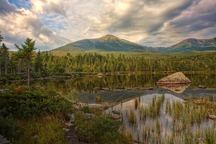 Mt. Katahdin, Katahdin, Sandy Stream Pond, Pond, Baxter State Park, Maine, New England, photo