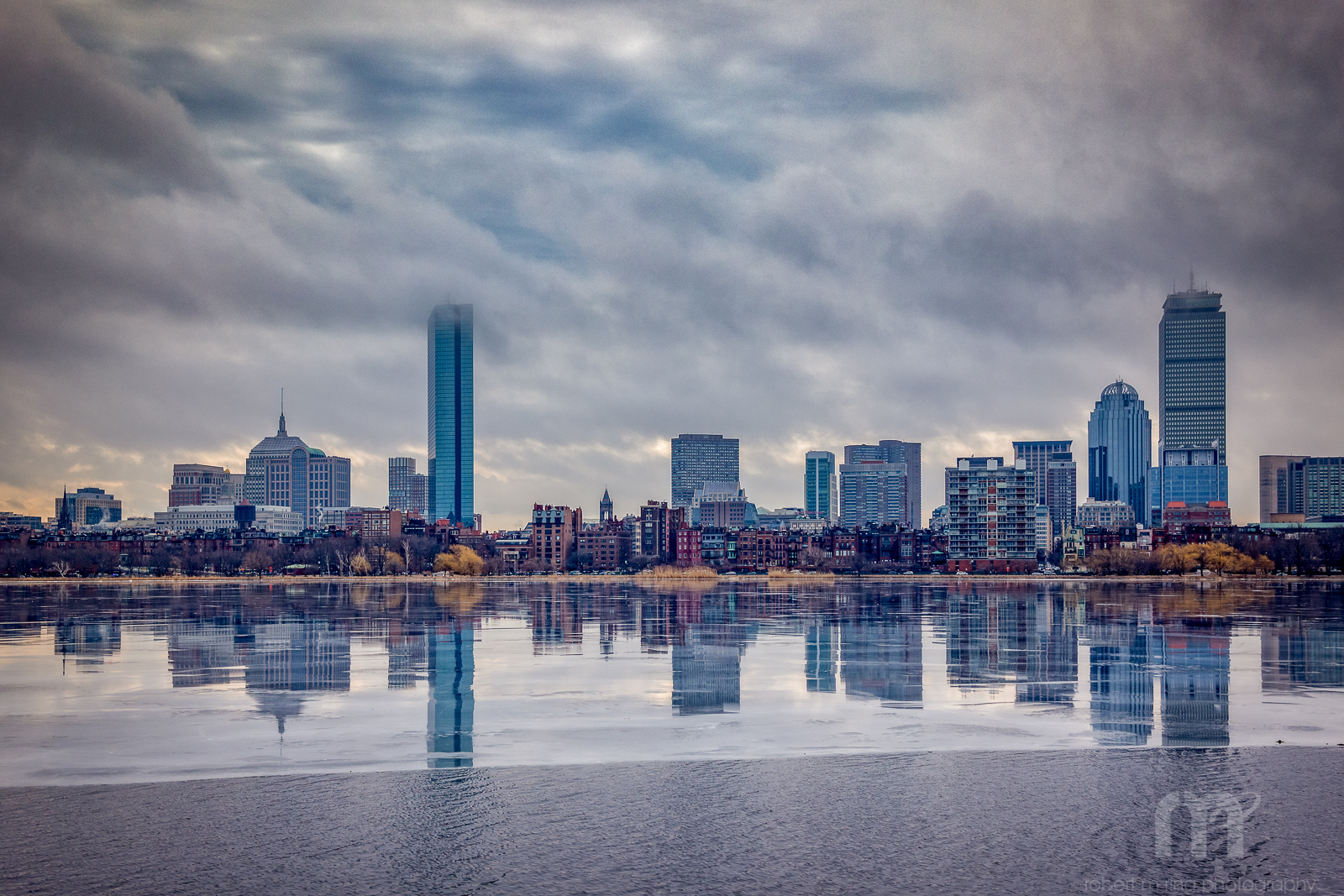 Boston,MA, Reflections, Charles River, New England, Winter, Ice, photo