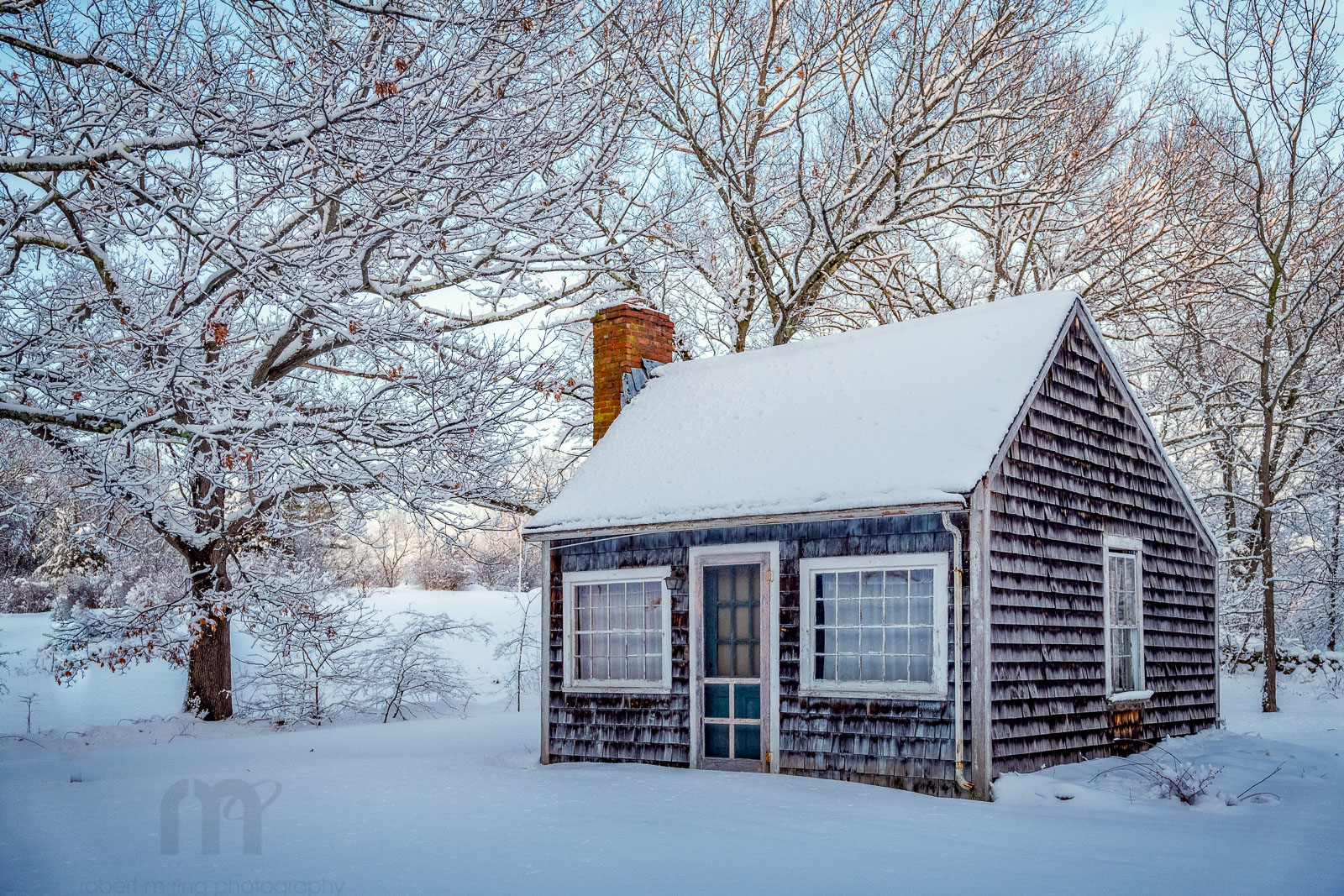 Byfield, Gardeners Shed, Snow,Winter, New England, photo
