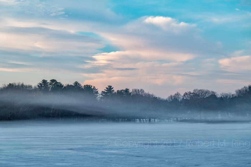 new england, fog, pond, massachusetts