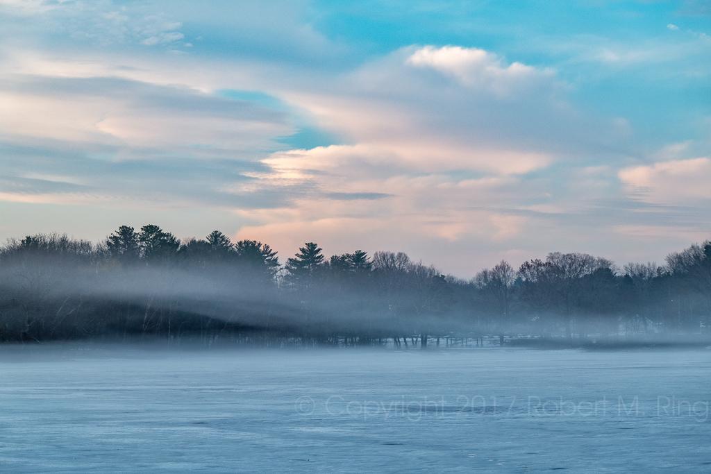 new england, fog, pond, massachusetts, photo