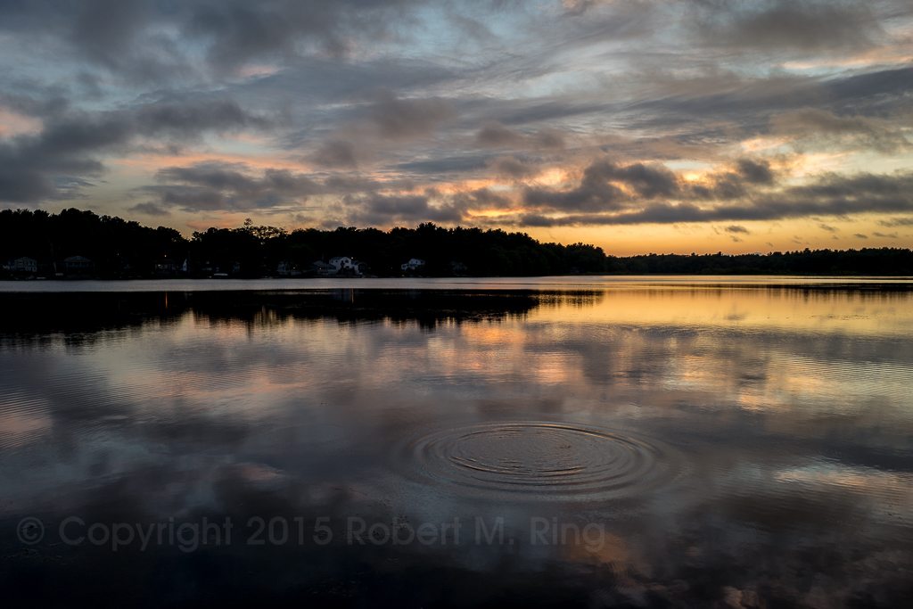 A splash and then some ripples after the sun went down....