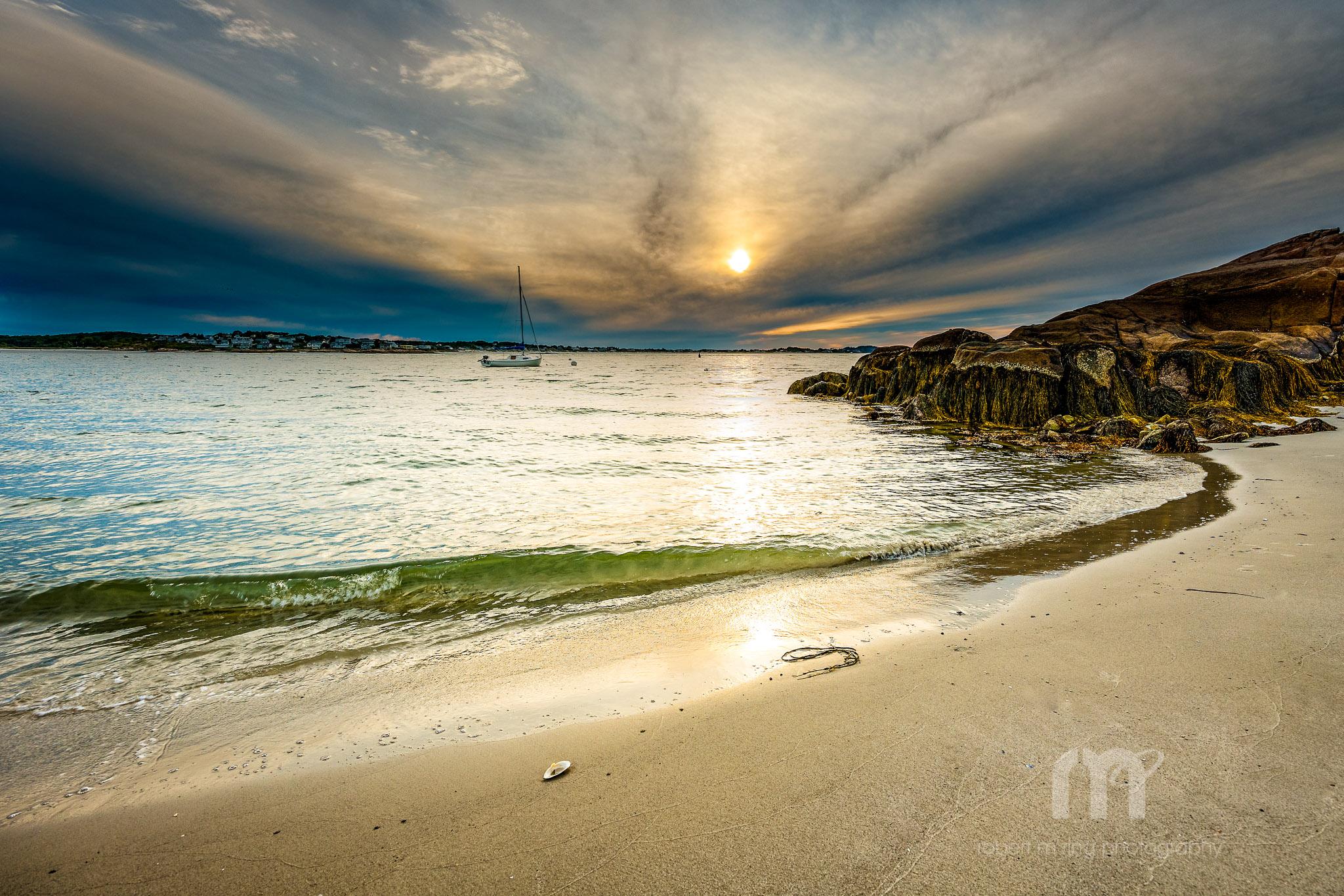 Annisquam Light, Sunset, beach, wave, photo