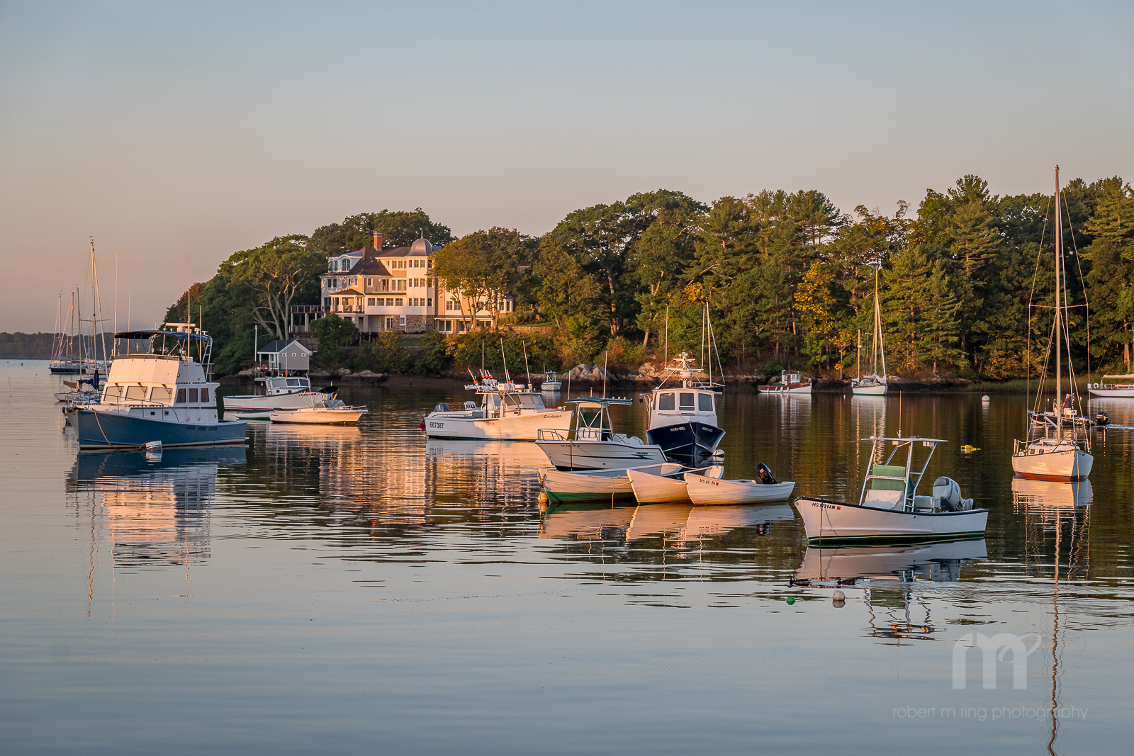 Sunrise, Scenic, Harbor, Landscape, New England, Lobster Boats, Boats, photo
