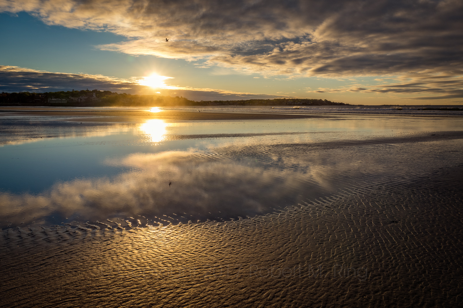 Kings Beach, Lynn, Lynn Shore Drive, MA, Massachusetts, sunrise, coast, clouds, new england