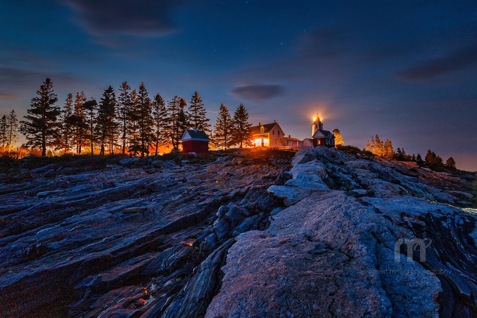 Pemaquid Light After Sunset