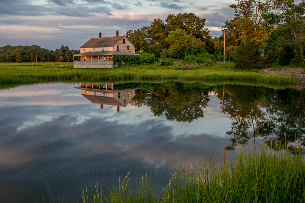 New England, scene, essex, ma, marsh, reflections, sky, clouds, photo