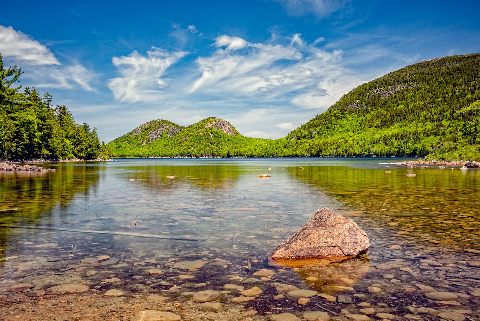 Acadia, Jordan Pond, New England, Scenic, landscape, calendar shot
