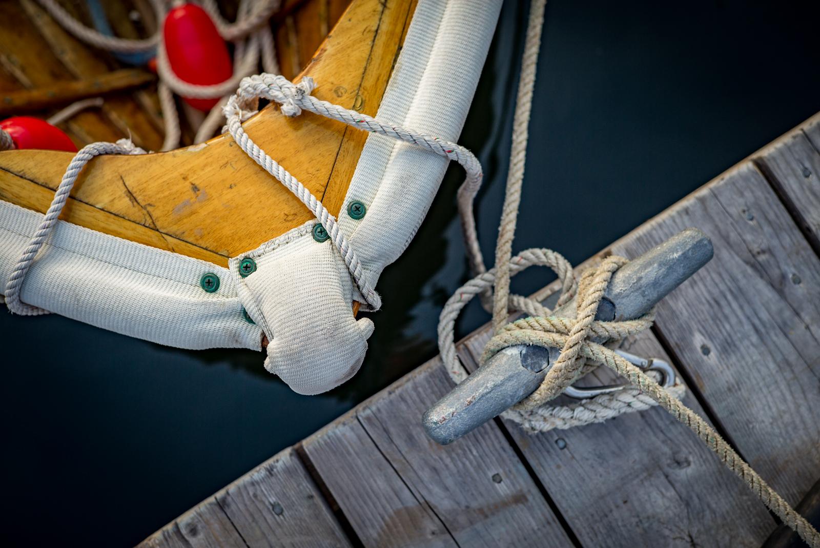 Maine, coast, harbor, rope, boat theme, bow, mid coast, New England