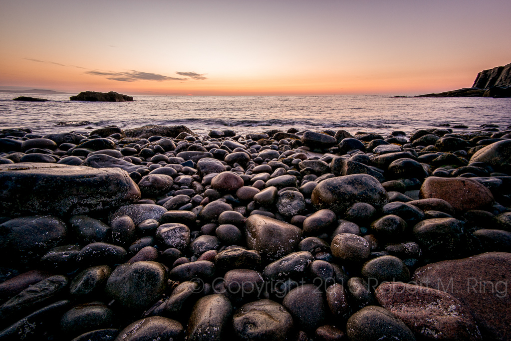 Just before the dawn at Boulder Beach in Acadia National Park. An early morning is required to get a location near the...
