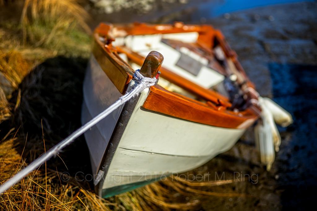 New England, Essex, MA, wood boat, shore, photo