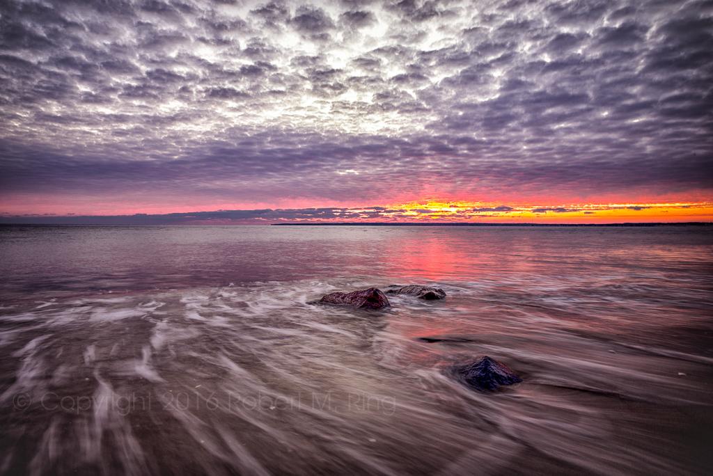 Beach,PRNWR,Sandy Point,Sunrise, New England, coast, ocean, clouds, sun, sky, photo