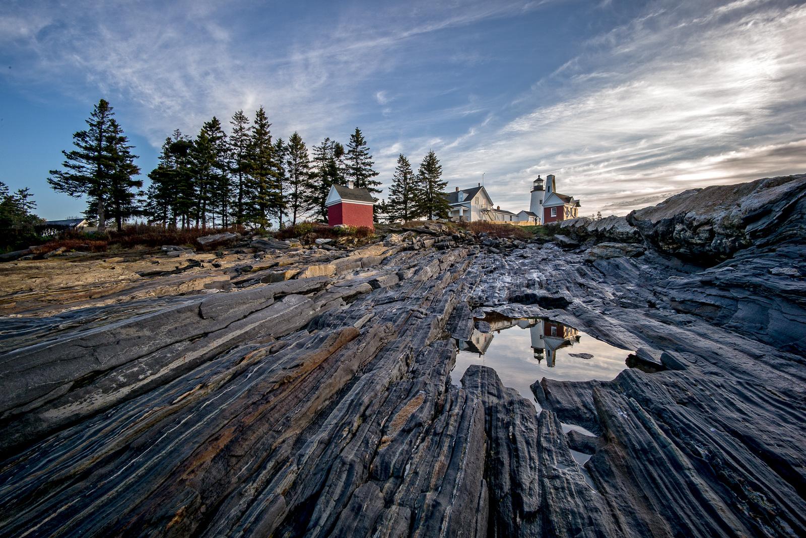 Pemaquid Point, Lighthouse, Maine, coast, New England, Wide angle