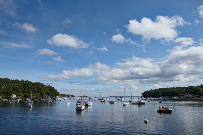 Rockport, Maine, Harbor, Clouds, Ocean, New England, photo