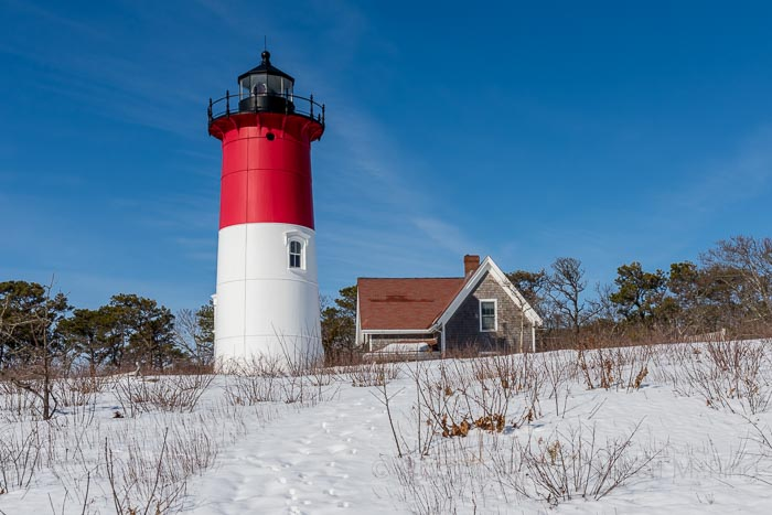 Cape Cod,Snow, new england, lighthouse, Nauset, photo