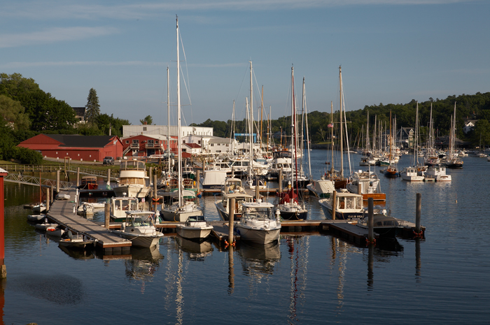 Most of the boats are back at their docks for the evening.