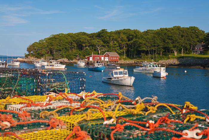 New Harbor, Maine, New England, Boats, Harbor, Buoys, Fishing Boats, photo
